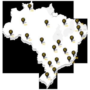 Escriba atende 21 estados em todas as regiões do Brasil