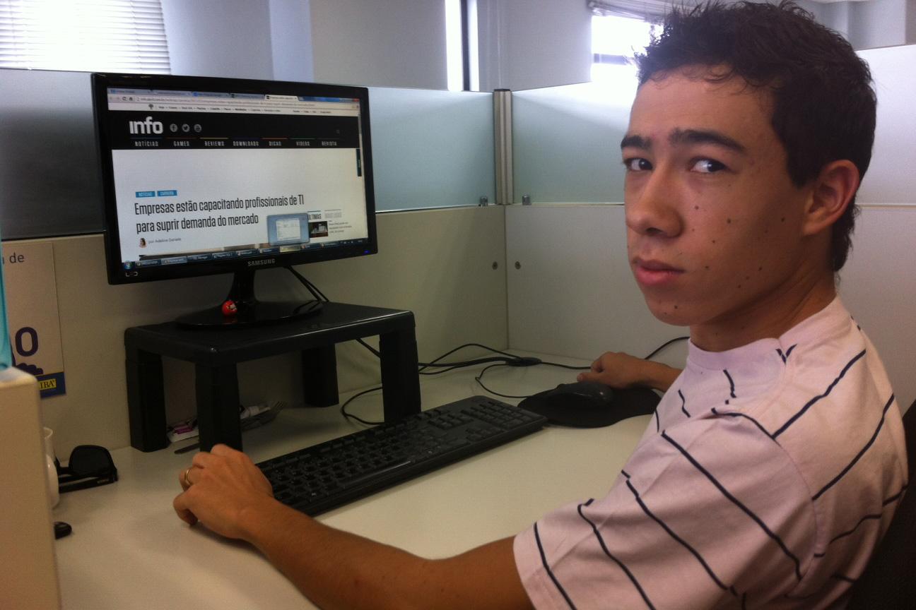 Leandro Zelone é funcionário da Escriba há três anos
